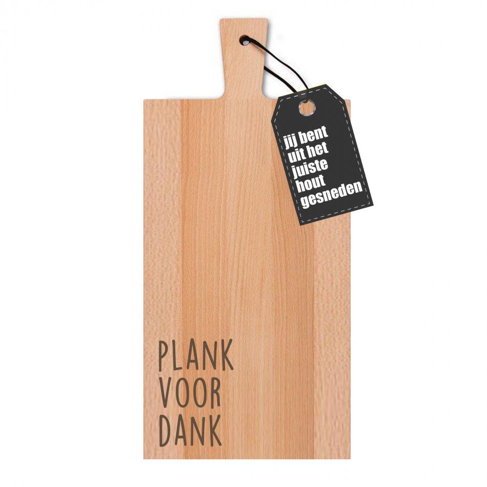 Plank voor dank