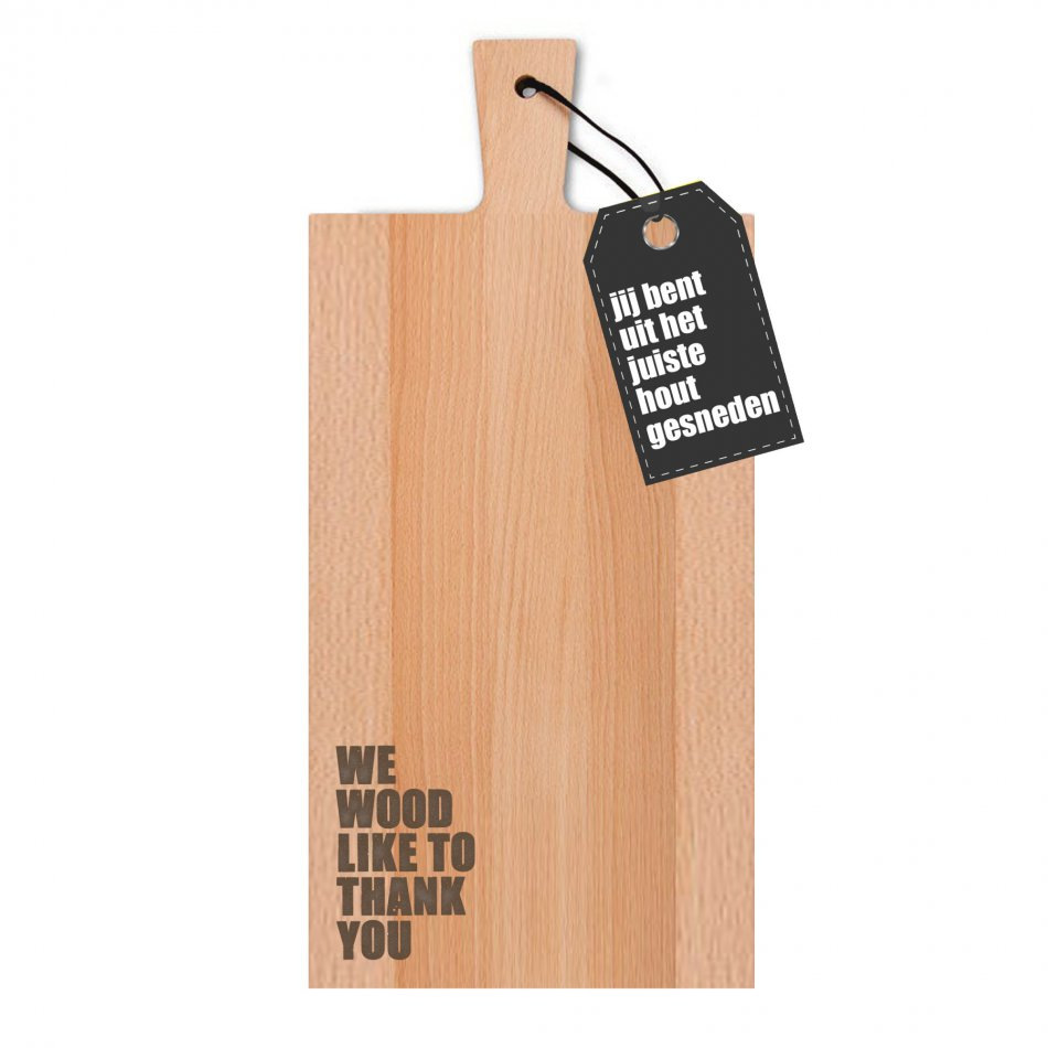 We wood like to thank you