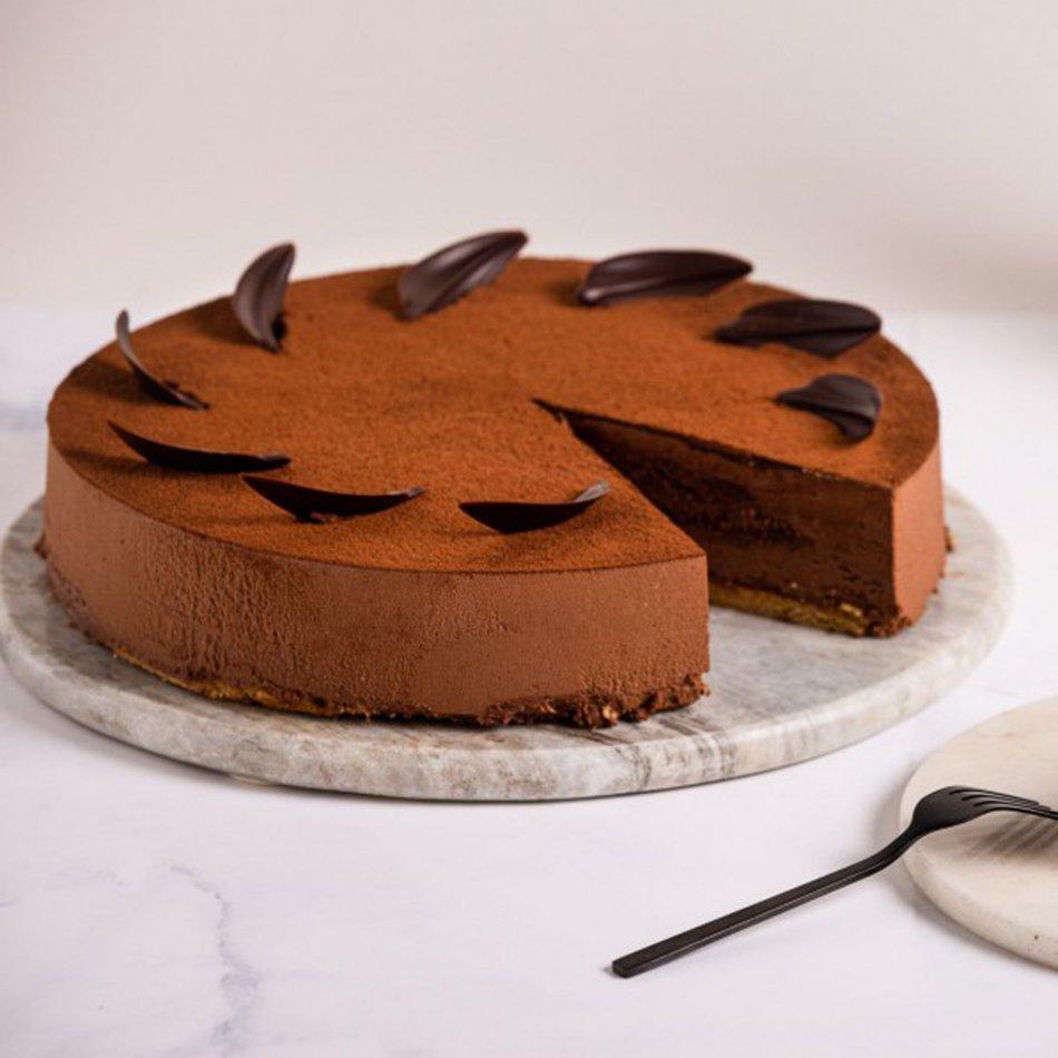 Chocoladetruffeltaart
